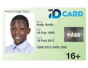 My ID Card - official UK PASS Proof of Age Photo ID Card